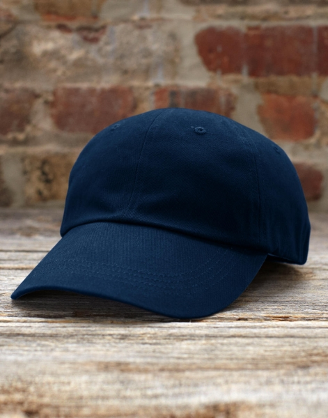 Gorra de sarga peinada perfil bajo