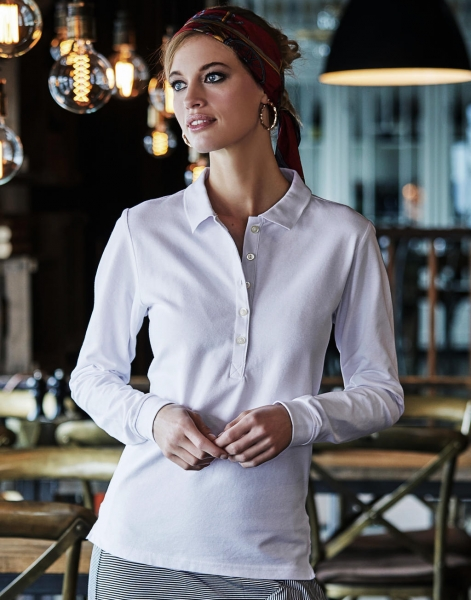 Ladies' Luxury LS Stretch Polo