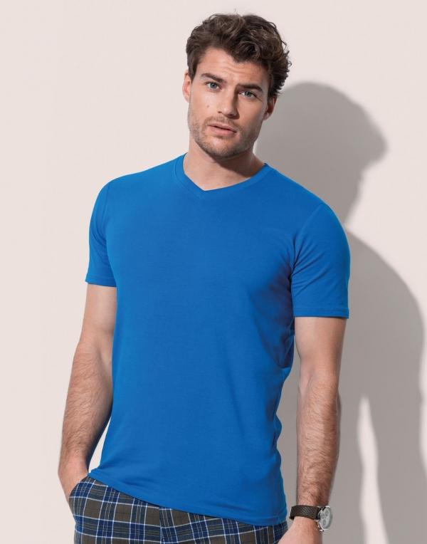 T-shirt Clive con scollo a V