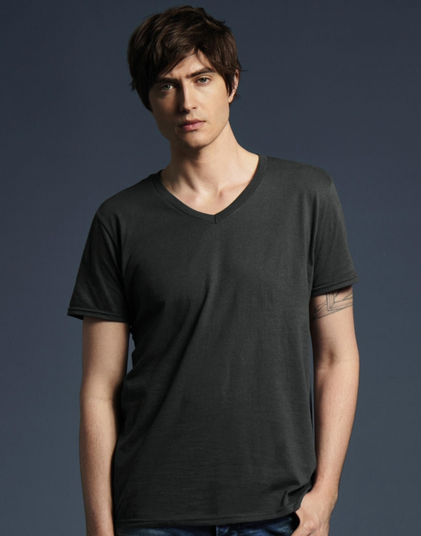 Adult Fashion Basic V-Neck Tee