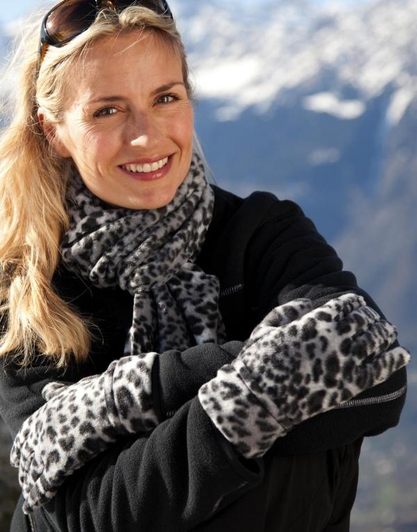 Set leopardo de las nieves