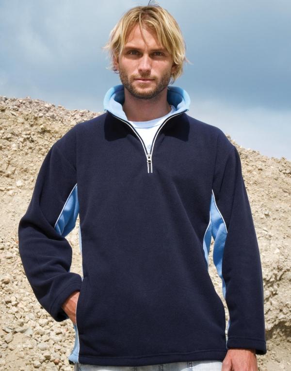 Men/'s Sweatshirt Sweater Fleece Sport Zipper 1//4 Tech3™ Result