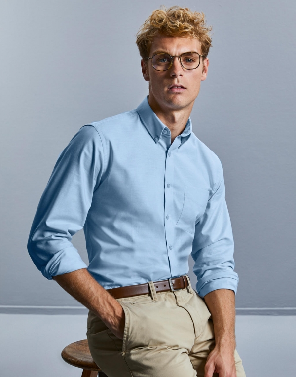 Męska koszula LS Oxford Tailored Button Down  A2jS0