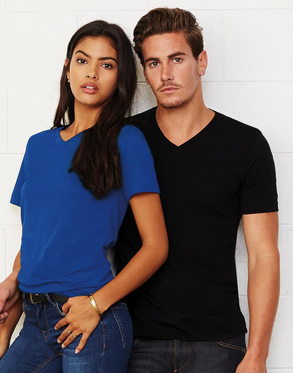 Unisex tričko Jersey V-Neck 36c418c5aa