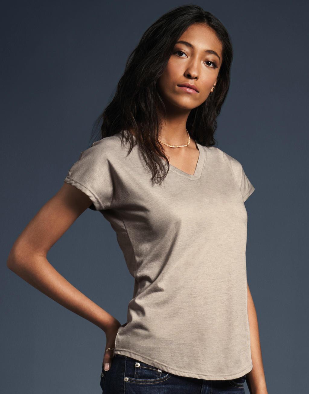 4123b16fce93 Dámske tričko Tri-Blend s V-výstrihom