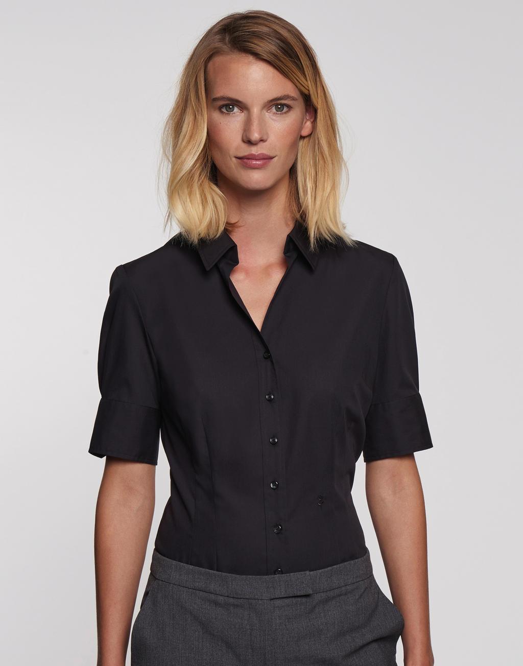 b36e3095f02 Dámská košile Černá růže s krátkým rukávem
