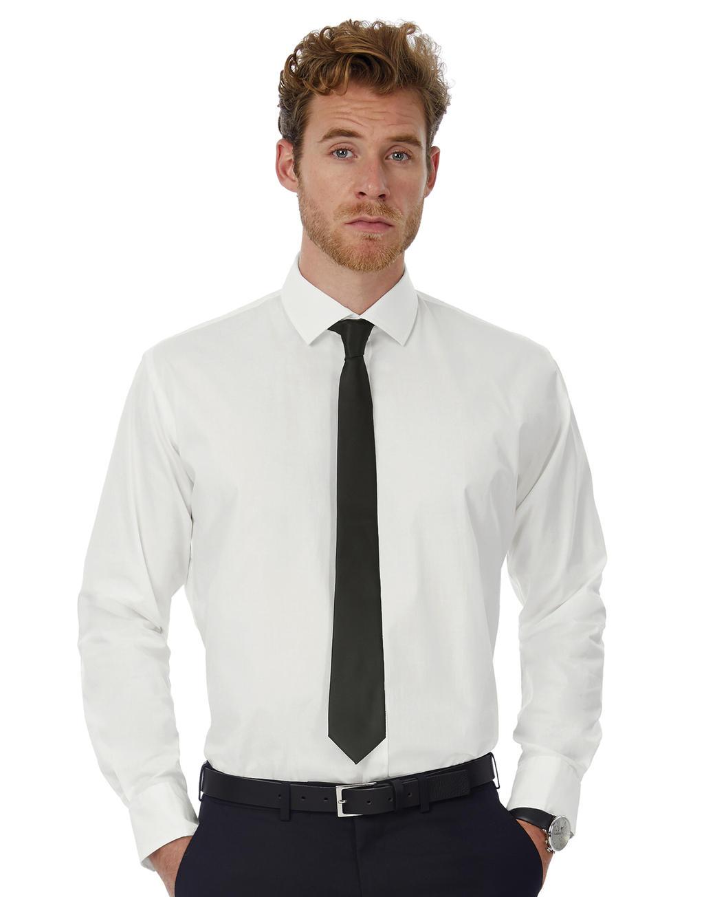Black Shirt Lslmen Uomo Tie Camicia BoCxWedr