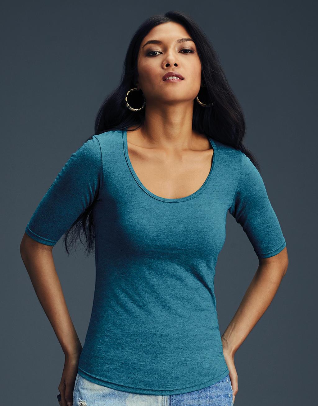 ca7017614547 Dámske tričko Tri-Blend s hlbokým výstrihom
