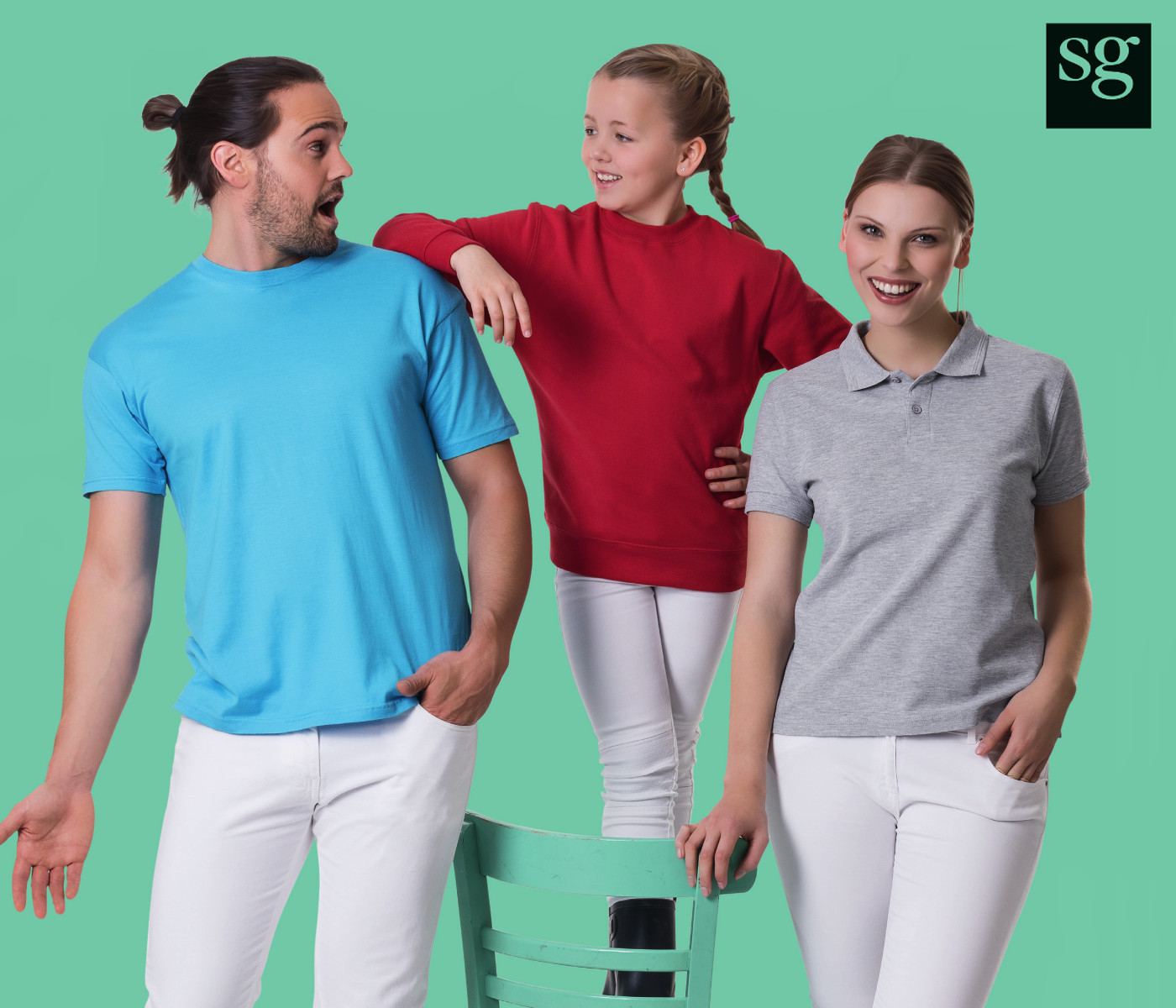 c93ad50884b T-shirts, Poloshirts, Sweats, Fleece and Softshell available for Men, Women  & Kids in a full range of colours and sizes from S to 5XL!