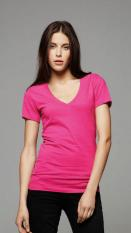 Bella Deep V-Neck Jersey T-Shirt 6035