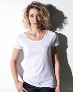 Emily - Viscose-Cotton Rolled Up Raglan T-Shirt