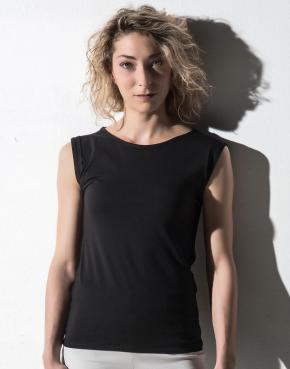 Bessy - Rolled Up Sleeve Tank Top