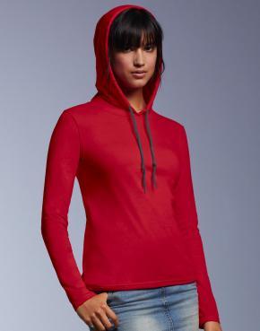 Women's Fashion Basic LS Hooded Tee