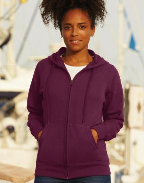 Lightweight Hooded Sweat Jacket Lady-Fit